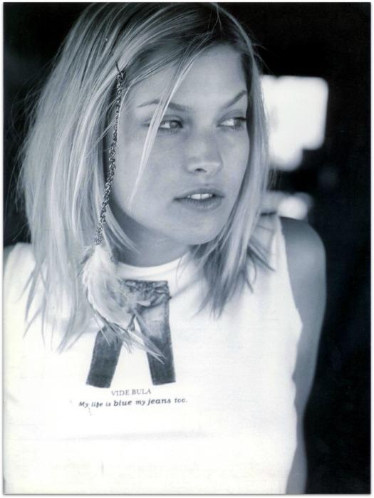 Ali Larter for Vide Bula summer catalog in 1997.