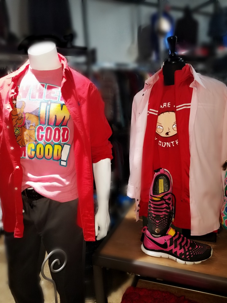 mens think pink and red
