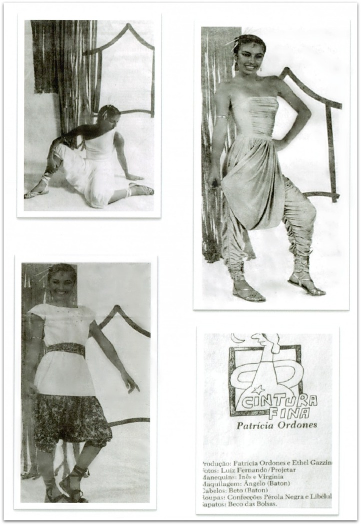Newspaper fashion editorial