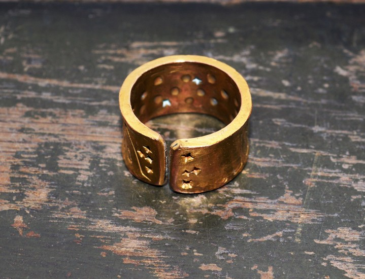 copper rings plating in gold and palladium